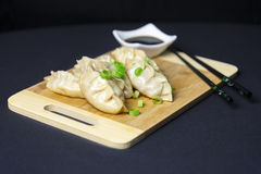 Japanese gyoza dumplings Royalty Free Stock Photo