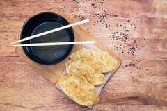 Japanese Gyoza dumplings Stock Photos