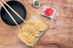 Japanese Gyoza dumplings Stock Images