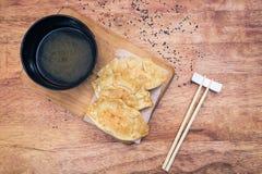 Japanese Gyoza dumplings Royalty Free Stock Images