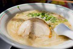 Japanese Hakata Ramen Noodles Royalty Free Stock Photography