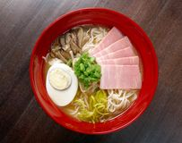 Japanese ham noodles Royalty Free Stock Photography