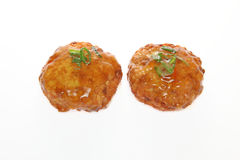 Japanese hamburger steak made from tofu and minced meat Royalty Free Stock Photos