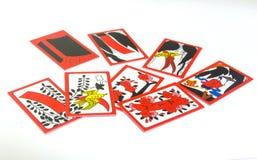 Japanese Hanafuda Playing Cards. Royalty Free Stock Image