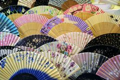 Japanese hand fans Royalty Free Stock Photos