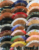 Japanese hand held fans Stock Images