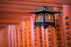Japanese hanging lamp torii gates Stock Images