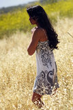 Japanese-Hawaiian female in outdoor lifestyle envi royalty free stock photos