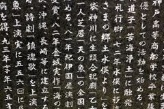 Japanese headstone at one of the temples in Kyoto Stock Images