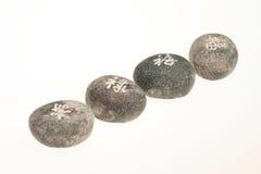 Japanese healing stones Stock Image