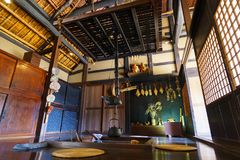 Japanese hearth. Landscape, Japan Ibaraki stock image