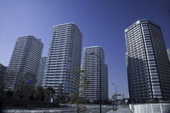 Japanese high-rise apartment group Royalty Free Stock Image