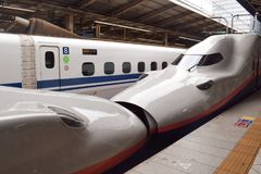 Japanese High Speed Bullet Train stock image