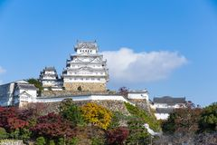 Japanese Himeiji Castle. Beautiful scenery landscape at outdoor Royalty Free Stock Images