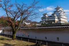 Japanese Himeiji Castle. Beautiful scenery landscape at outdoor Royalty Free Stock Photography