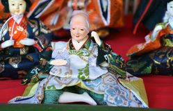 Japanese Hina Dolls. Japanese HinamatsuriDoll's Festival is an occasion to pray for young girls' growth and happiness Royalty Free Stock Photography