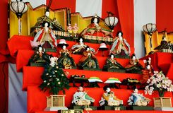 Japanese Hina Dolls. Japanese HinamatsuriDoll's Festival is an occasion to pray for young girls' growth and happiness Stock Photography