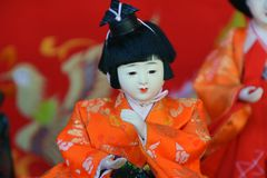 Japanese Hina Dolls. Japanese HinamatsuriDoll's Festival is an occasion to pray for young girls' growth and happiness royalty free stock images