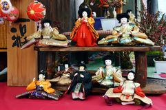 Japanese Hina Dolls. Japanese HinamatsuriDoll's Festival is an occasion to pray for young girls' growth and happiness Sagemon is a custom that is royalty free stock photography
