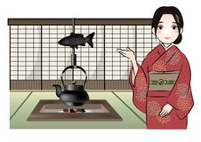 Japanese style Guest houses image vector illustration