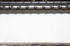 Japanese historical white wall Royalty Free Stock Image