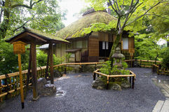 Japanese home. Garden and home in Japanese stye royalty free stock photos
