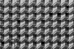 Japanese honeycomb. A pattern of balcony and windows in a hotel facade in Kyoto (Japan Royalty Free Stock Photography