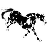 Japanese horse. The horse of the Japanese traditional painting Stock Photo