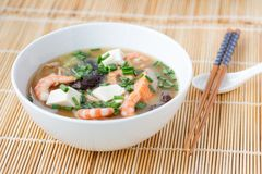 Japanese hot pot soup yosenabe Stock Photography
