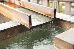 Japanese hot spring background royalty free stock image