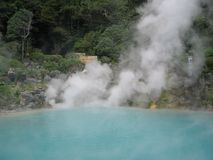 Japanese hot springs Stock Photos