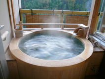 Japanese Hot Springs Royalty Free Stock Image