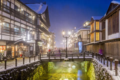 Japanese Hot Springs Town Royalty Free Stock Photos