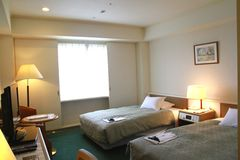 Japanese hotel room Stock Image