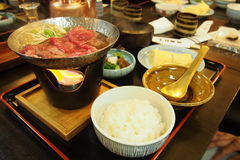 Japanese hotpot Royalty Free Stock Images