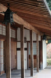 Japanese House. A neat little building in a Japanese garden Royalty Free Stock Image