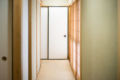 Japanese house corridor Stock Image