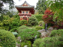 Japanese house and garden Stock Images