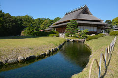 Japanese house and garden in Okayama Stock Photo