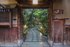 Japanese house and garden Stock Image