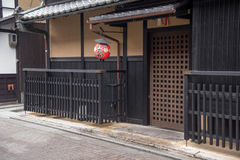 Japanese house in Gion district in Kyoto Stock Photos