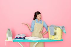 Japanese house mother feels tire Royalty Free Stock Photos