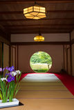 Japanese house with round window Royalty Free Stock Image