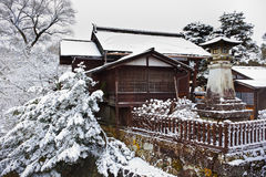 Japanese House in winter Stock Image