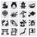 Japanese icon set Stock Photography