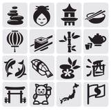 Japanese icon set Stock Photography