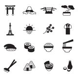 Japanese icon set. Japan icons. Vector. Eps10 Stock Images