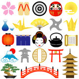Japanese icons. Japanese decorative icons.  New Year icons Stock Photos