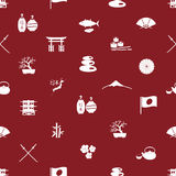 Japanese icons seamless pattern eps10 Stock Photography