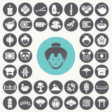 Japanese icons set. Stock Image